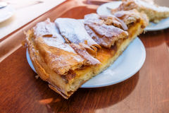 Ensaimada. Photograph of delicious ensaimada, traditional pastry made in Mallorca, Spain royalty free stock photography