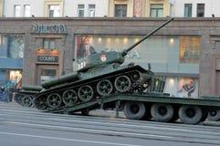 Ensaio de parada de uma vitória em Moscovo Fotografia de Stock