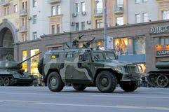 Ensaio de parada de uma vitória em Moscovo Foto de Stock