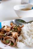 Ensalada asada a la parrilla cortada del cerdo Alimento tailandés - fritada #6 del Stir Imágenes de archivo libres de regalías
