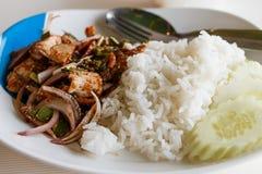 Ensalada asada a la parrilla cortada del cerdo Alimento tailandés - fritada #6 del Stir Fotografía de archivo libre de regalías