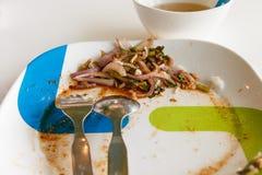 Ensalada asada a la parrilla cortada sobras del cerdo Alimento tailandés - fritada #6 del Stir Fotos de archivo libres de regalías