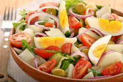 Ensalada campera traditional spanish countryside salad.  Stock Images