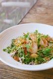 Ensalada coa alas tailandesa del camarón de la haba Fotos de archivo