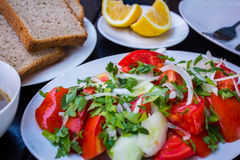 Ensalada con el tomate Imagen de archivo