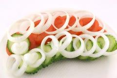 Ensalada con las verduras Fotografía de archivo