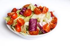 Ensalada con las verduras frescas Fotografía de archivo libre de regalías