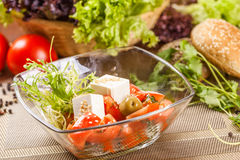 Ensalada con los tomates y el queso Foto de archivo