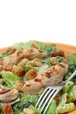 Ensalada de Caesar asada a la parilla del pollo Fotografía de archivo