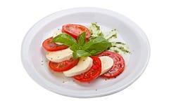 Ensalada de Caprese - comida italiana tradicional Foto de archivo libre de regalías