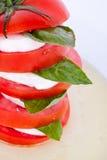 Ensalada de Caprese con la mozarela, el tomate y la albahaca foto de archivo libre de regalías