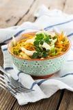 Ensalada de col con la zanahoria en cuenco Imagen de archivo libre de regalías