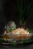 Ensalada de col con las zanahorias Foto de archivo