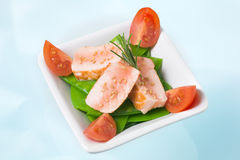 Ensalada de color salmón chamuscada Fotografía de archivo