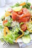 Ensalada de color salmón fumada foto de archivo libre de regalías