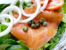 Ensalada de color salmón fumada Fotografía de archivo libre de regalías