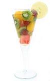 Ensalada de fruta alcohólica de la celebración de Champán Foto de archivo libre de regalías