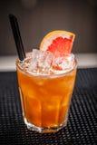 Ensalada de fruta con el cubo de hielo Foto de archivo