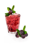 Ensalada de fruta con la uva Foto de archivo libre de regalías
