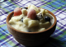 Ensalada de fruta congelada Foto de archivo