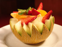 Ensalada de fruta del melón Fotografía de archivo libre de regalías