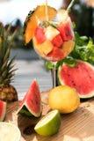 Ensalada de fruta exótica fresca Fotos de archivo