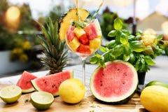 Ensalada de fruta exótica fresca Imagenes de archivo