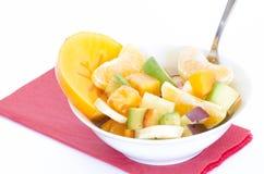 Ensalada de fruta sana Imagen de archivo libre de regalías