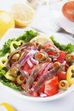Ensalada de la anchoa Foto de archivo