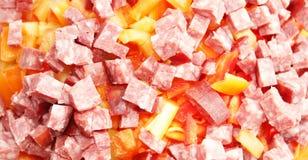 Ensalada de la carne Foto de archivo