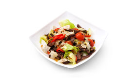 Ensalada de la carne con las verduras Imagen de archivo