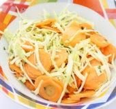 Ensalada de la col y de las zanahorias Imagenes de archivo