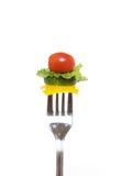 Ensalada de la fork foto de archivo