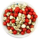 Ensalada de la mozarela y del tomate Imagen de archivo libre de regalías