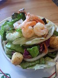 Ensalada de la verdura del camarón Fotos de archivo libres de regalías