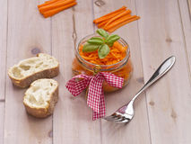 Ensalada de la zanahoria Imágenes de archivo libres de regalías