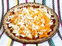 Ensalada de la zanahoria y de col Imagen de archivo