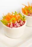 Ensalada de la zanahoria y del rábano Foto de archivo libre de regalías