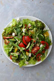Ensalada de las verduras con arugula quebradizo imagen de archivo libre de regalías