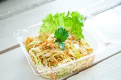 Ensalada de las verduras con la col y la zanahoria Fotografía de archivo libre de regalías