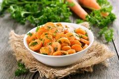 Ensalada de las verduras con la zanahoria Foto de archivo libre de regalías