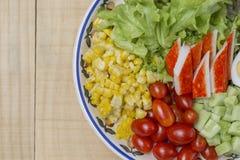 Ensalada de las verduras frescas del primer Fotografía de archivo
