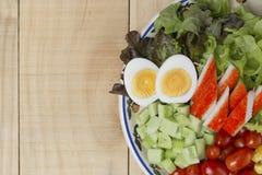 Ensalada de las verduras frescas del primer Imagen de archivo libre de regalías