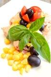 Ensalada de los atunes y de maíz Foto de archivo libre de regalías