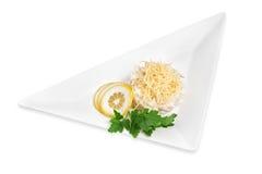 Ensalada de los mariscos con queso Imagen de archivo libre de regalías