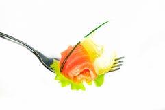 Ensalada de los salmones de la frescura Fotos de archivo libres de regalías