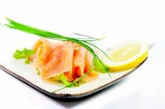 Ensalada de los salmones de la frescura Foto de archivo libre de regalías