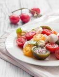 Ensalada de los tomates Foto de archivo libre de regalías