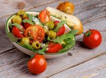 Ensalada de los tomates Fotos de archivo libres de regalías