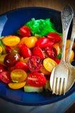 Ensalada de los Uva-Tomates Foto de archivo libre de regalías